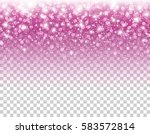 pink glitter particles and... | Shutterstock .eps vector #583572814