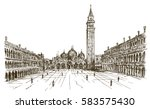 italy  venice  san marco. hand... | Shutterstock .eps vector #583575430