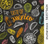 taste of mexico. national... | Shutterstock .eps vector #583575634
