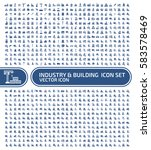 industry and building icon set... | Shutterstock .eps vector #583578469