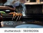 beef satay food must taste when ... | Shutterstock . vector #583582006