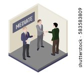 a group of people. mediator and ...   Shutterstock .eps vector #583583809