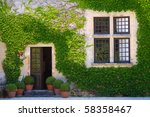 Ivy Clad House Photographed In...