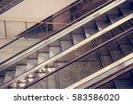 modern escalator in shopping