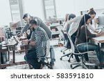 office life. group of young... | Shutterstock . vector #583591810