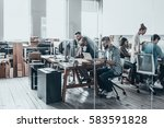 business team at work.  group... | Shutterstock . vector #583591828