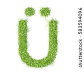 ui grass letter on a white...