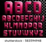 alphabet of metal letters   Shutterstock .eps vector #583594948