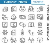 currency   pound icons....   Shutterstock .eps vector #583598218