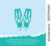 flippers  icon. vector design. | Shutterstock .eps vector #583599664