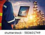service engineer working with... | Shutterstock . vector #583601749