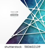 abstract geometric background... | Shutterstock .eps vector #583602139