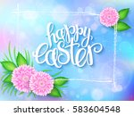 vector illustration of easter... | Shutterstock .eps vector #583604548