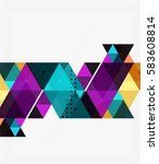 vector abstract colorful... | Shutterstock .eps vector #583608814