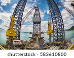 oil and gas rig in the... | Shutterstock . vector #583610800