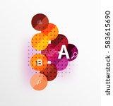 circle modern geometry... | Shutterstock .eps vector #583615690