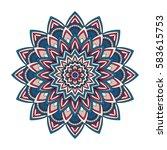 color floral mandala  vector... | Shutterstock .eps vector #583615753