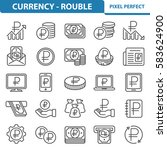 currency   rouble icons....   Shutterstock .eps vector #583624900