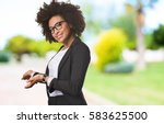 business black woman doing... | Shutterstock . vector #583625500