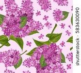 spring flowers. seamless... | Shutterstock .eps vector #583630090