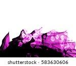 violet purple flower frame... | Shutterstock . vector #583630606