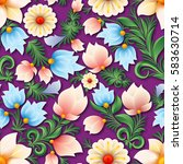 abstract spring seamless floral ... | Shutterstock .eps vector #583630714