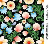 abstract spring seamless floral ... | Shutterstock .eps vector #583630738