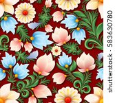 abstract spring seamless floral ... | Shutterstock .eps vector #583630780