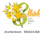 greeting card for 8 march ... | Shutterstock .eps vector #583631368