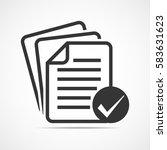 checklist icon. concept of... | Shutterstock .eps vector #583631623