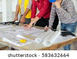 image of engineer meeting for... | Shutterstock . vector #583632664