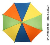 colorful umbrella or parasol... | Shutterstock . vector #583633624