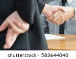 dishonesty  business fraud... | Shutterstock . vector #583644040