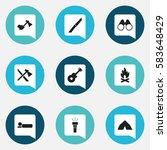 set of 9 editable travel icons. ...