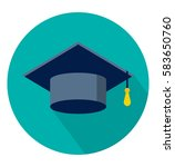 graduation cap icon in trendy... | Shutterstock .eps vector #583650760