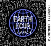 vector concept for earth hour... | Shutterstock .eps vector #583650934