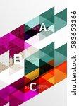 vector minimalistic triangle... | Shutterstock .eps vector #583653166