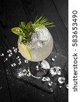 wallpaper  white cocktail... | Shutterstock . vector #583653490