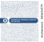 business and finance icon set... | Shutterstock .eps vector #583654579