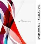vector elegant wave background. ... | Shutterstock .eps vector #583662148