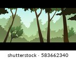 illustration of a bright day... | Shutterstock .eps vector #583662340
