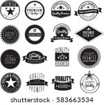 100  gaurantee  quality assured ... | Shutterstock .eps vector #583663534