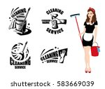 cleaning service logotypes with ...