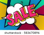 sale message in pop art style ... | Shutterstock .eps vector #583670896