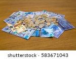 kazakhstani tenge banknotes and ... | Shutterstock . vector #583671043