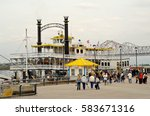 The New Orleans Riverfront With ...