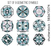 colorful mandalas. abstract...   Shutterstock .eps vector #583673374