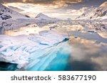 paradise bay antarctica | Shutterstock . vector #583677190