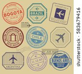 travel stamps or symbols set... | Shutterstock .eps vector #583679416