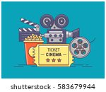 movie items | Shutterstock .eps vector #583679944